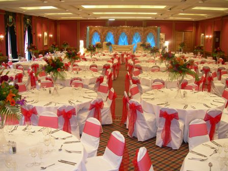 Red White And Silver Wedding Decorations